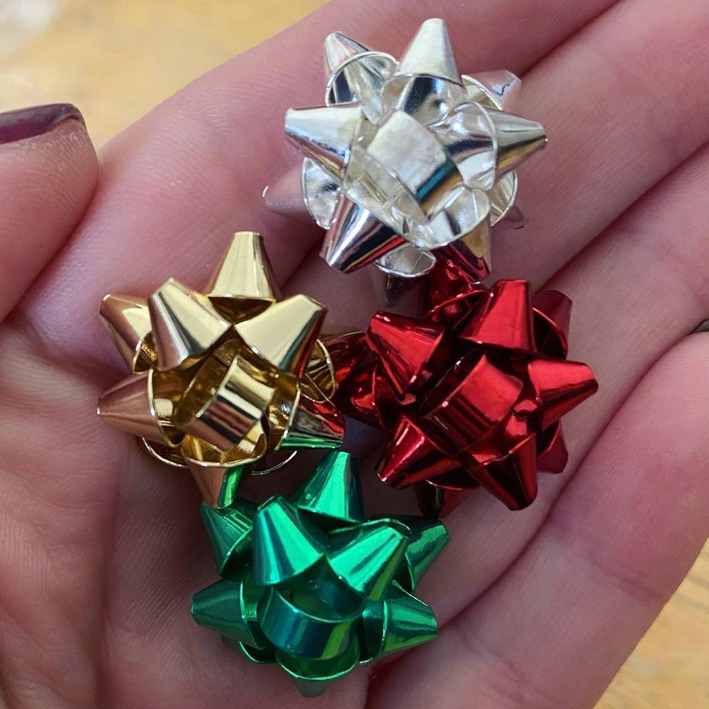 Image of Holiday Bow Plugs (sizes 2g-5/8)