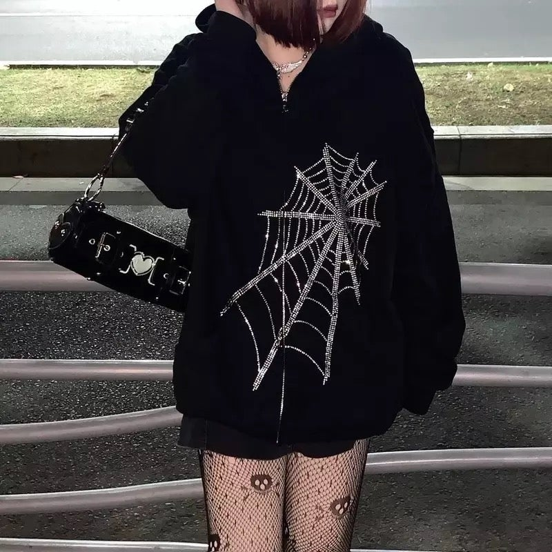 Image of Black Widow Rhinestone Jacket