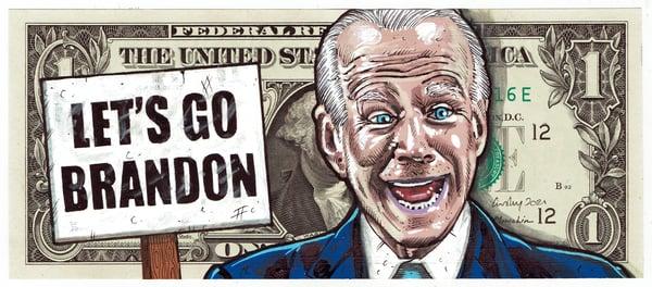 Image of Real Dollar Original. Lets Go Brandon
