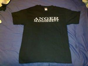 Image of Anger Management (white logo on black shirt)