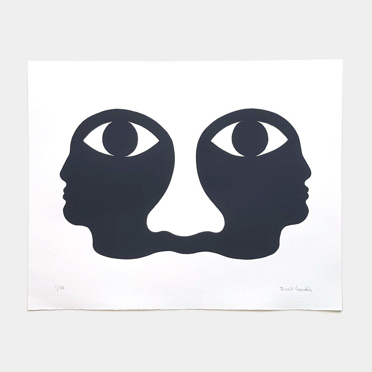 Image of Limited edition linocut print 50 x 40 cm 'Vision Commune'