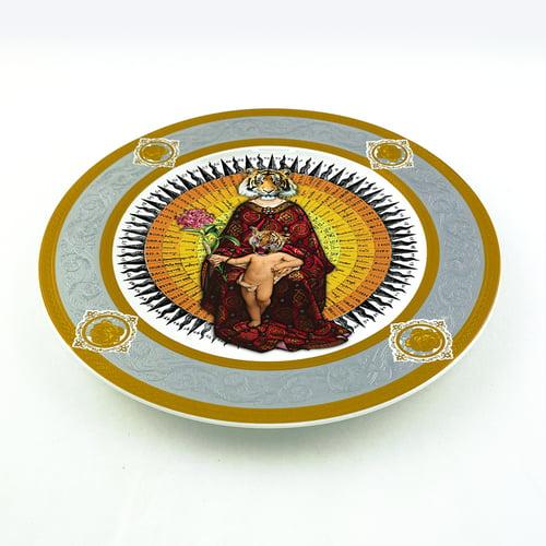 Image of Tigresa - Large Fine China Plate - #0775