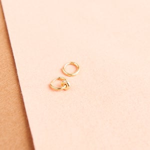 Image of Asymmetric small gold hoops