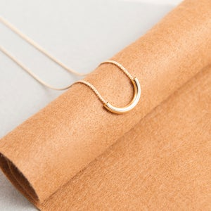 Image of Gold tube short necklace