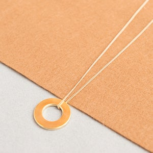 Image of Long gold circle necklace