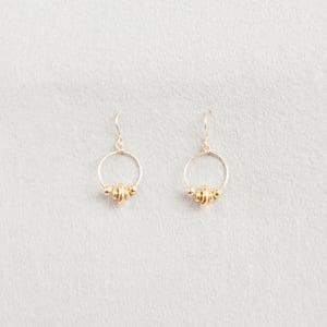 Image of Gold rings earrings