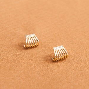 Image of Gold rings studs