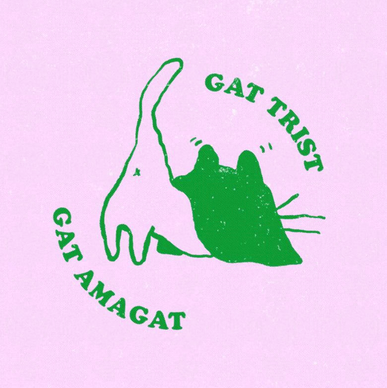 Image of 🐈⬛GAT TRIST / GAT AMAGAT🐈⬛