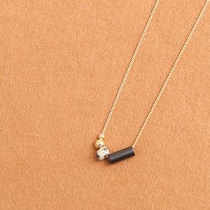 Image of Long dalmatian jade necklace