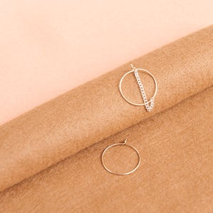 Image of Gold & silver chain hoops