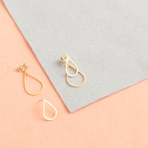 Image of Double matte gold drops