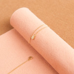 Image of Tiny gold drop threaders