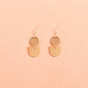 Image of Gold geometric earrings