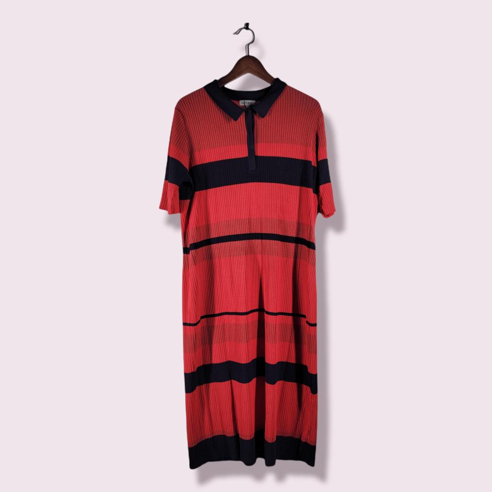 Image of Striped Polo Dress