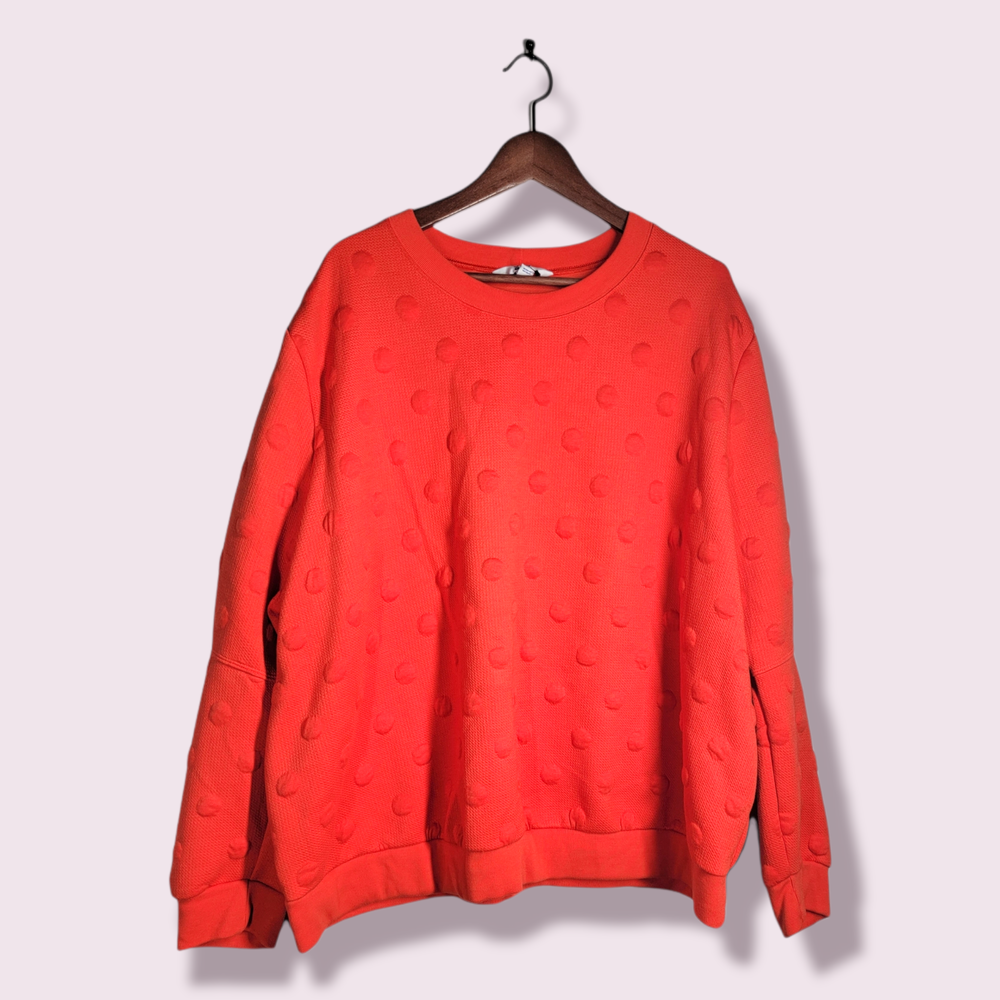 Image of Raised Polka-Dot Sweater