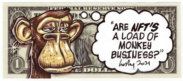 Image of Real Dollar Original. Monkey Business.