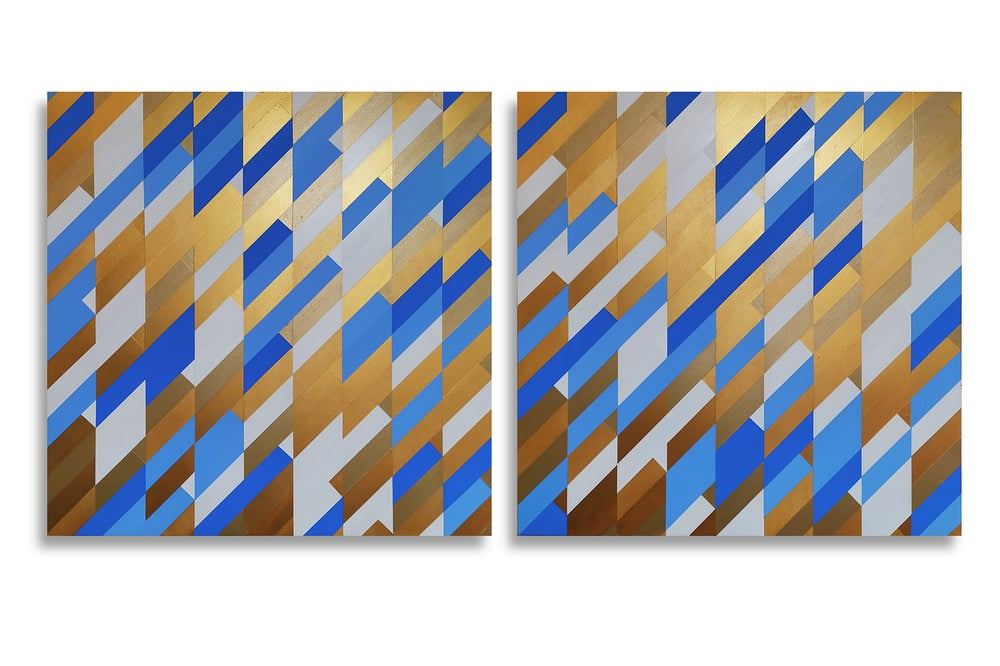 Image of 'Glisten' - Diptych, acrylic on board