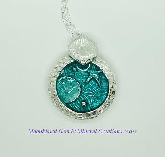 Image of A little Tidepool Fine Silver Pendant