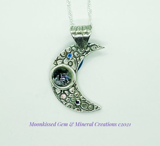 Image of Sparkly Moon Fine Silver Pendant