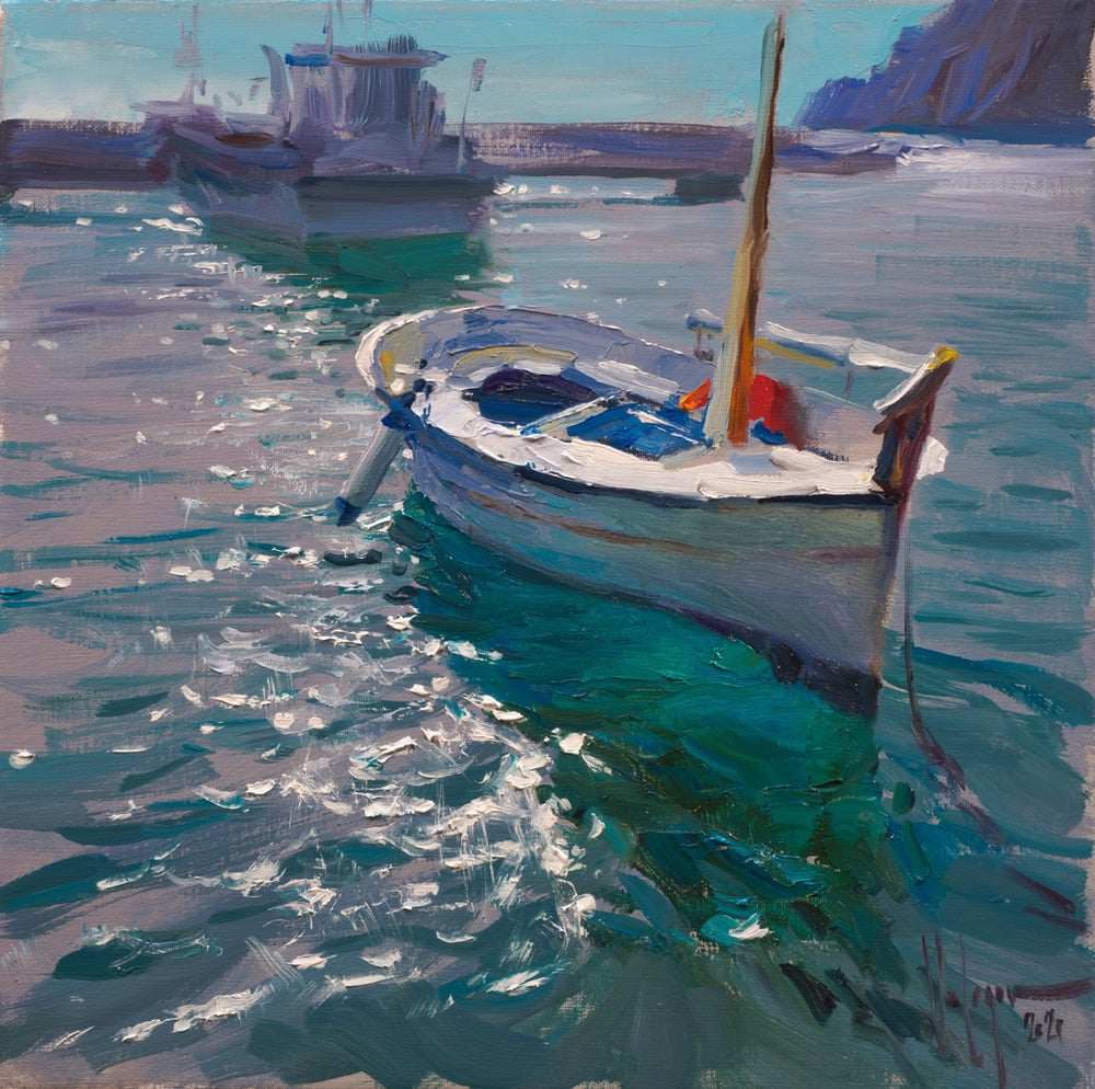 """Image of """"THE BOAT/ CALA CANYELLES"""", PAINTING"""