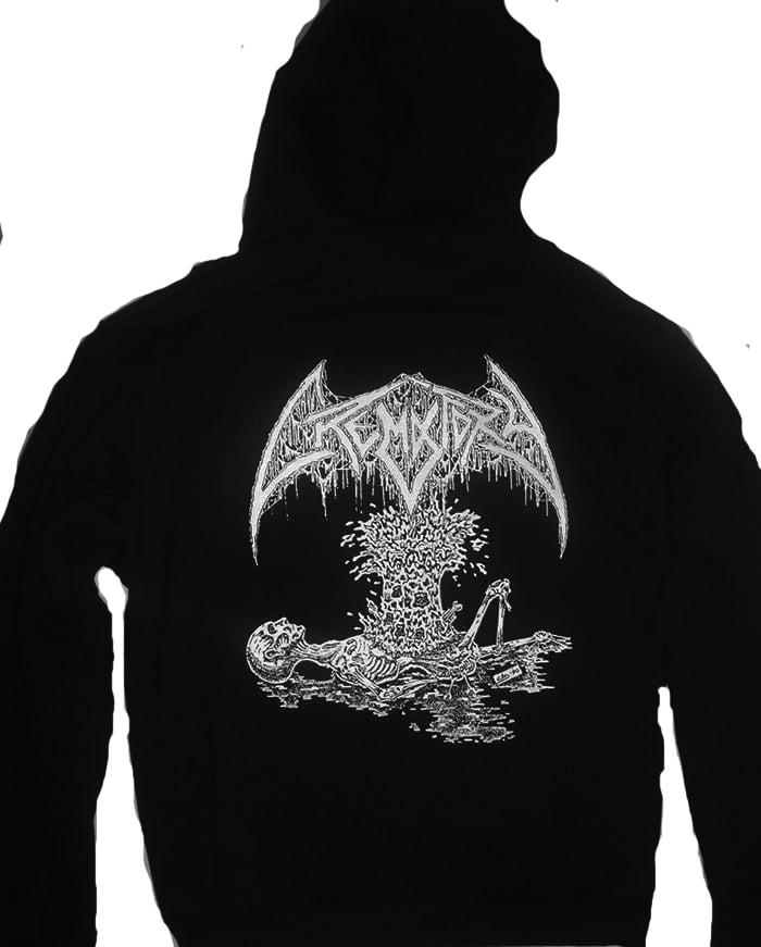 "Image of Crematory "" Exploding Chest "" Hooded Sweatshirt"