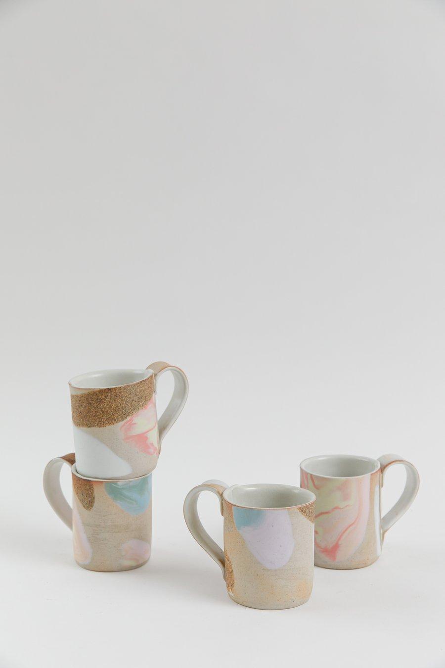 Image of Tangerine Lavender Dream - Porcelain inlay Handled Mug