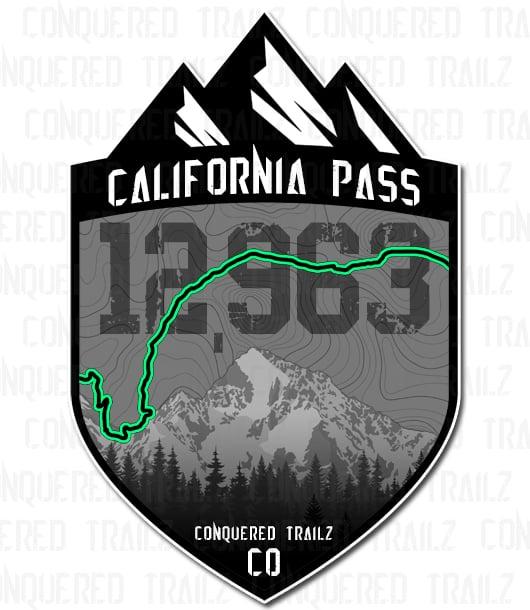 "Image of ""California Pass"" Trail Badge"