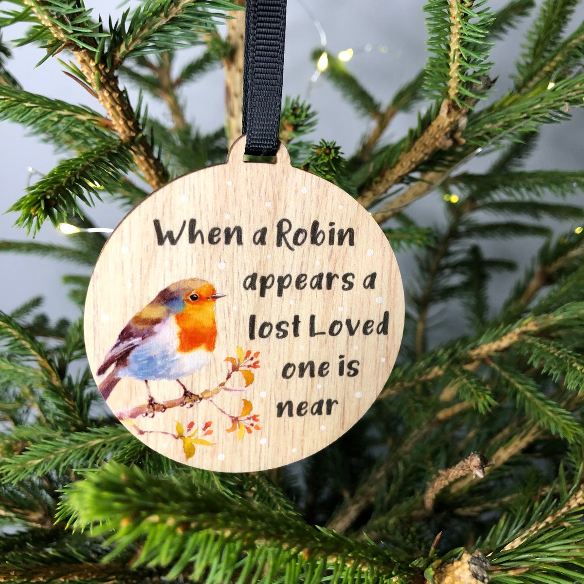 Image of When a robin appears a lost loved one is near Decoration
