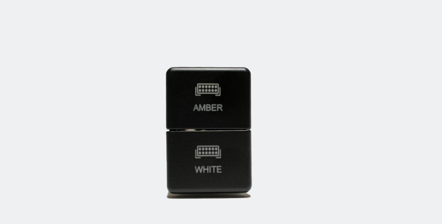 """Image of DUAL FUNCTION TOYOTA OEM STYLE """"AMBER & WHITE"""" SWITCH SMALL STYLE"""