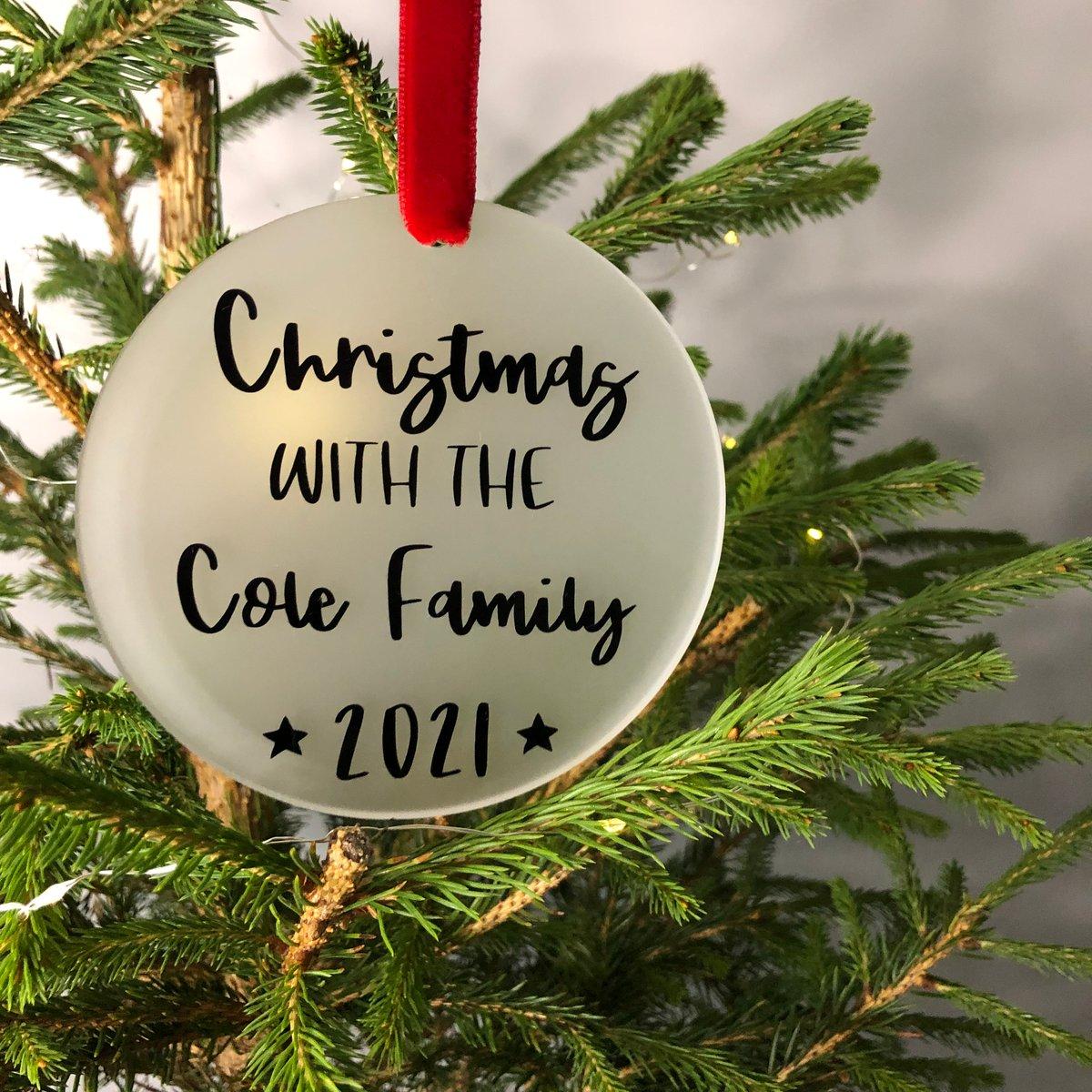 Image of Family Name Acrylic Christmas Decoration