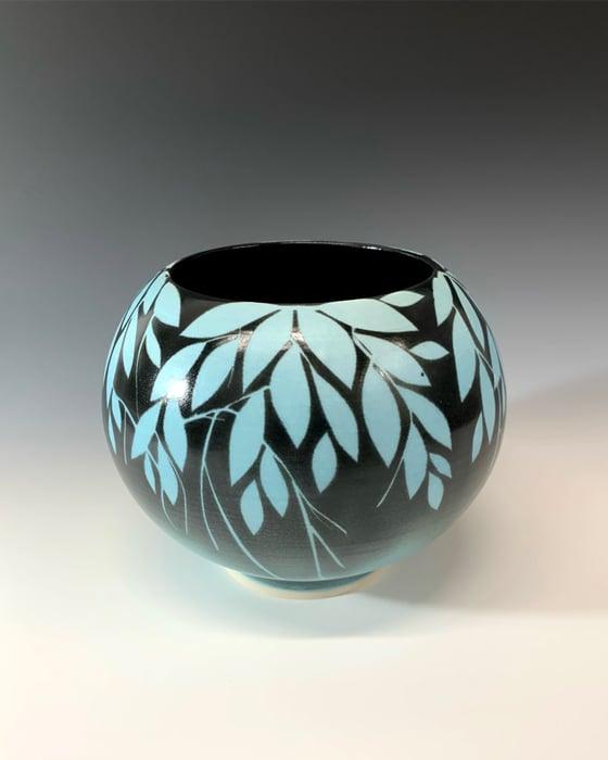 Image of Blue Leaves Jar