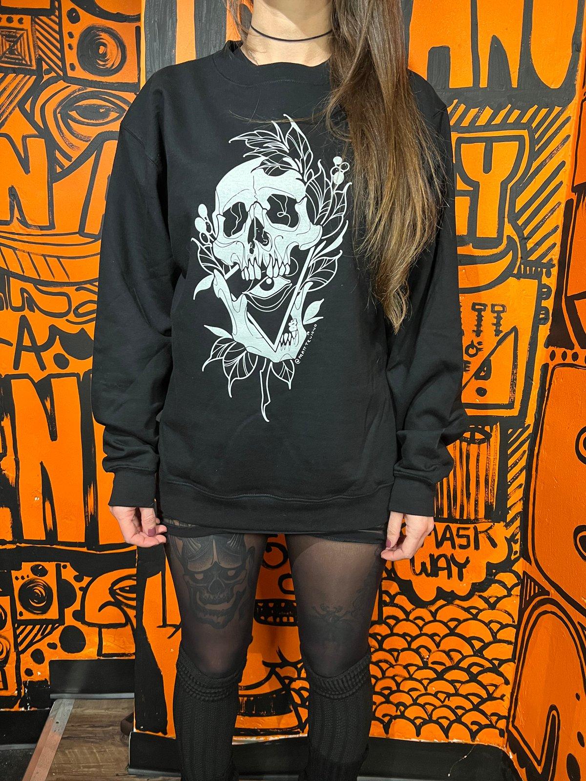 Skull Crew Neck Sweatshirt