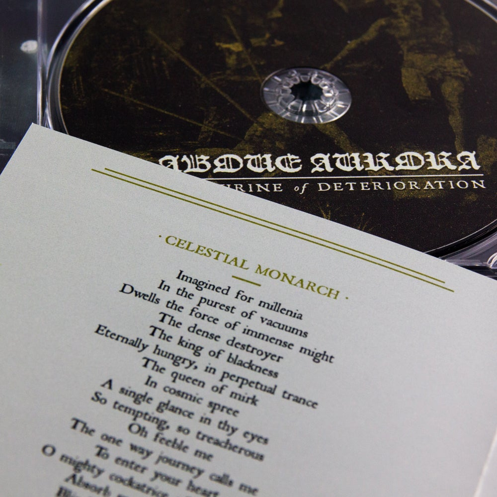 "Above Aurora ""The shrine of deterioration"" CD"