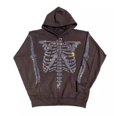 Image of Skully Skeleton Rhinestone Jacket