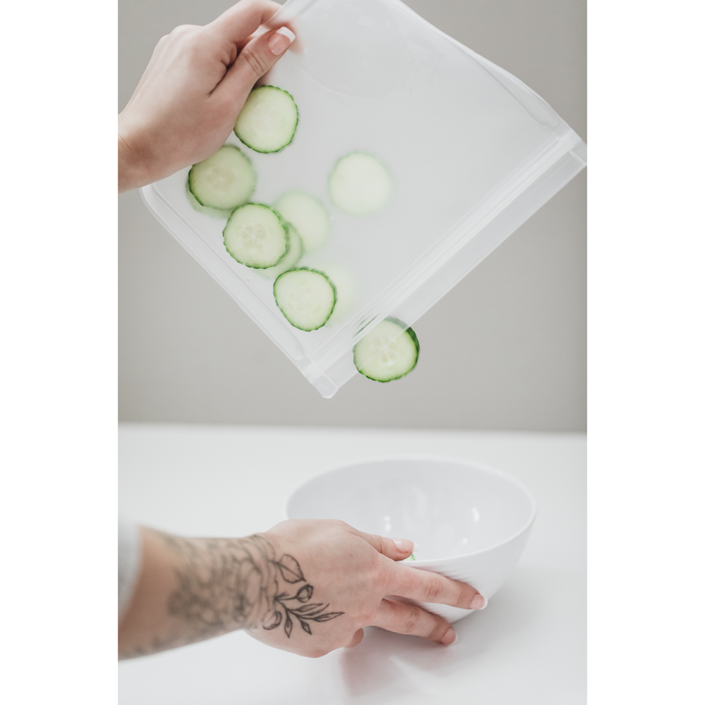 Image of PEVA Reusable Snack Bags - Set of 5