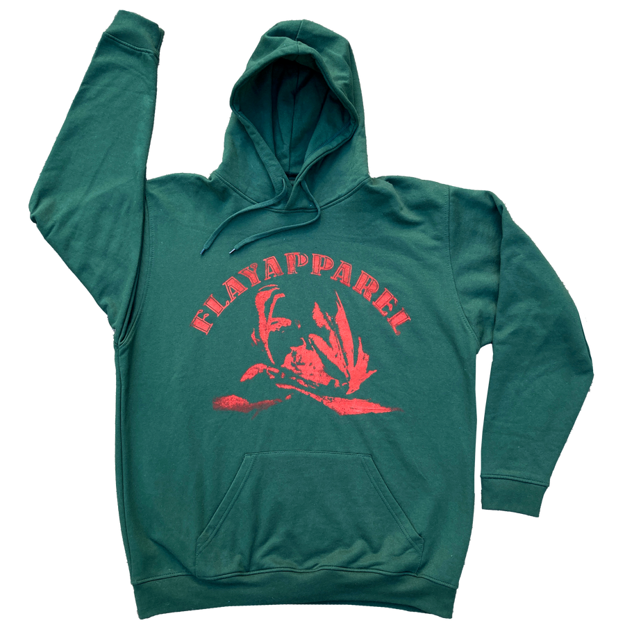 Image of Winter Green Excoriate Hoodie - Red
