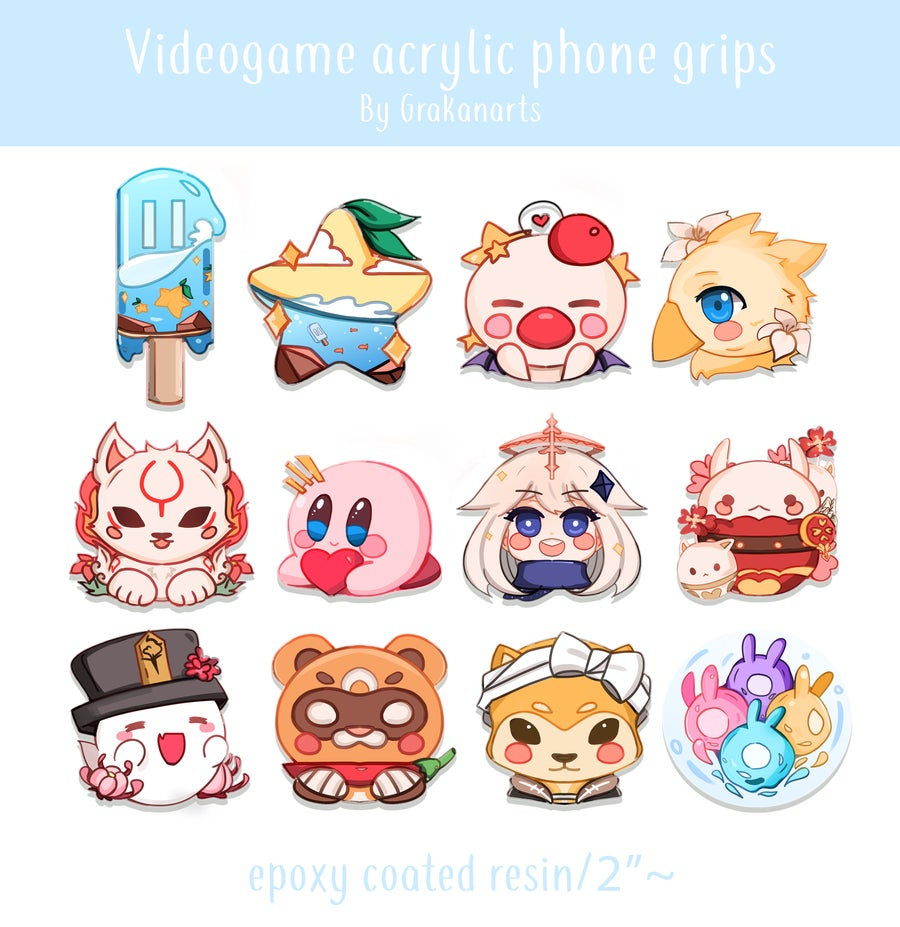 Image of [Preorder] Videogame Acrylic Phone Grips