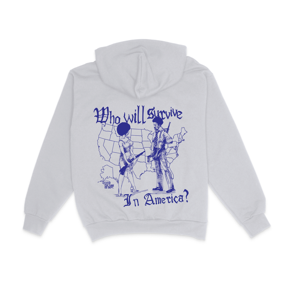 Image of WHO WILL SURVIVE 14oz Hoodie