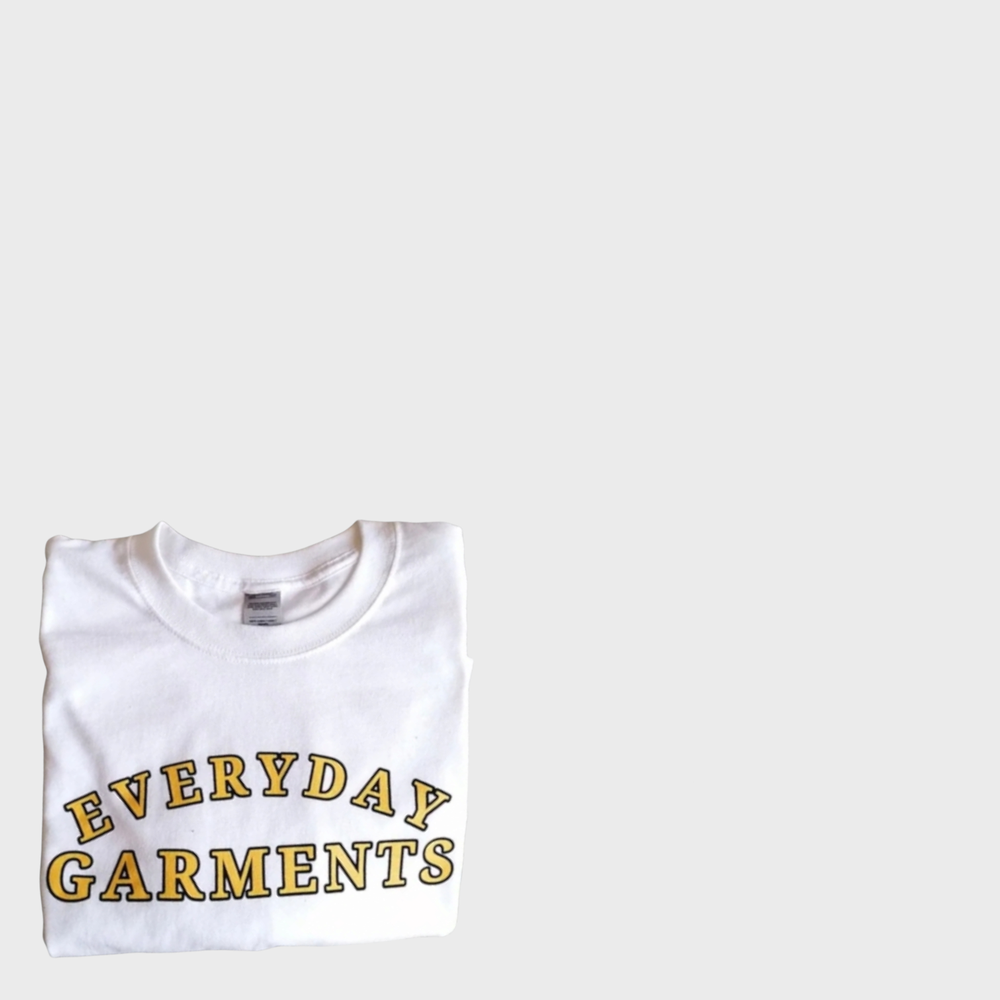 Image of EVERYDAY GARMENTS ARC LOGO WITH TWO TONE LETTERING