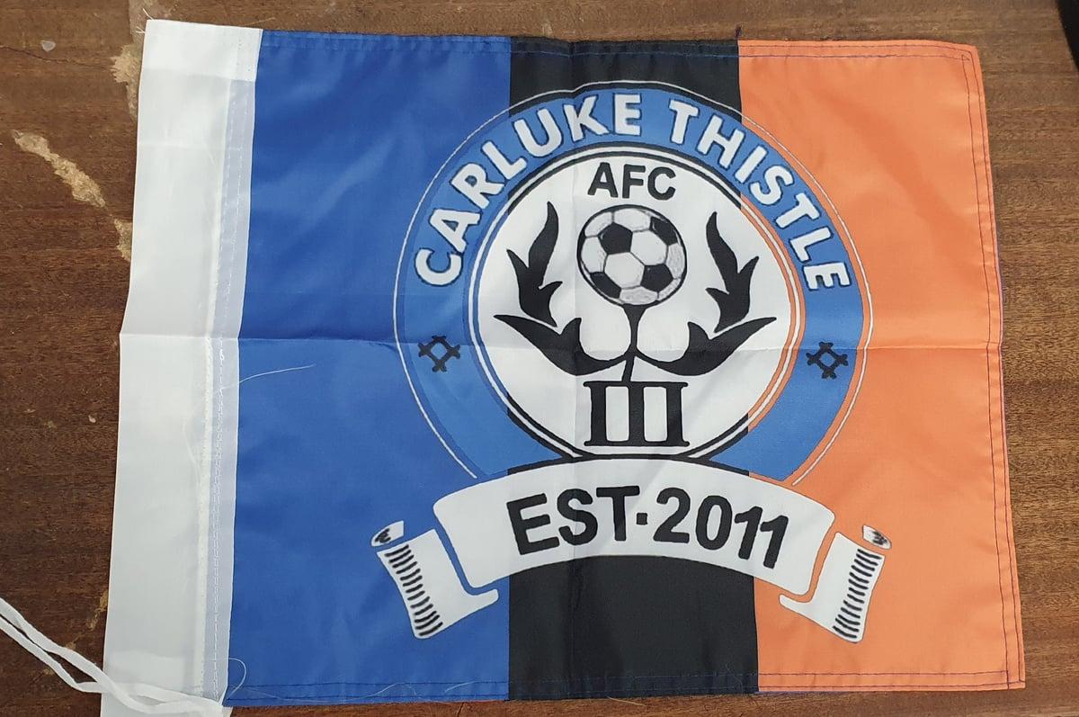 Custom Printed Football Fence Flags. Club Flags, Organisation flags.