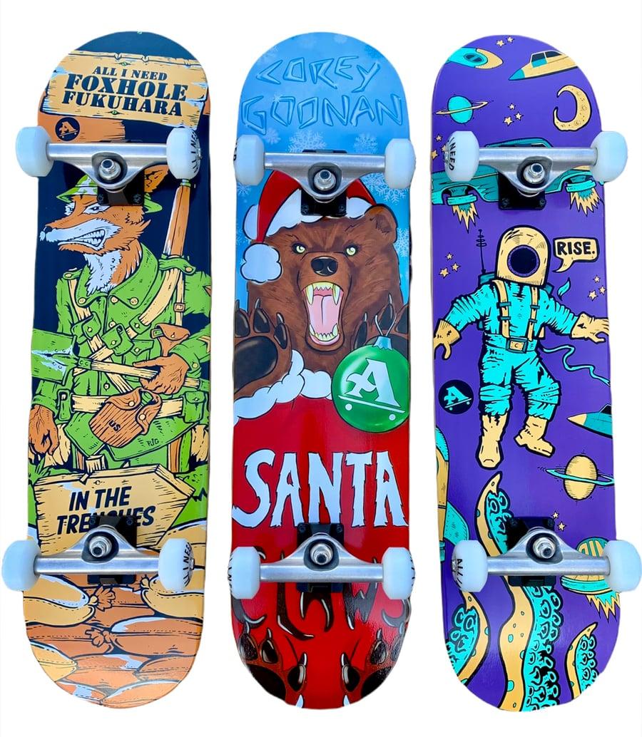 Image of Beginner complete skateboard