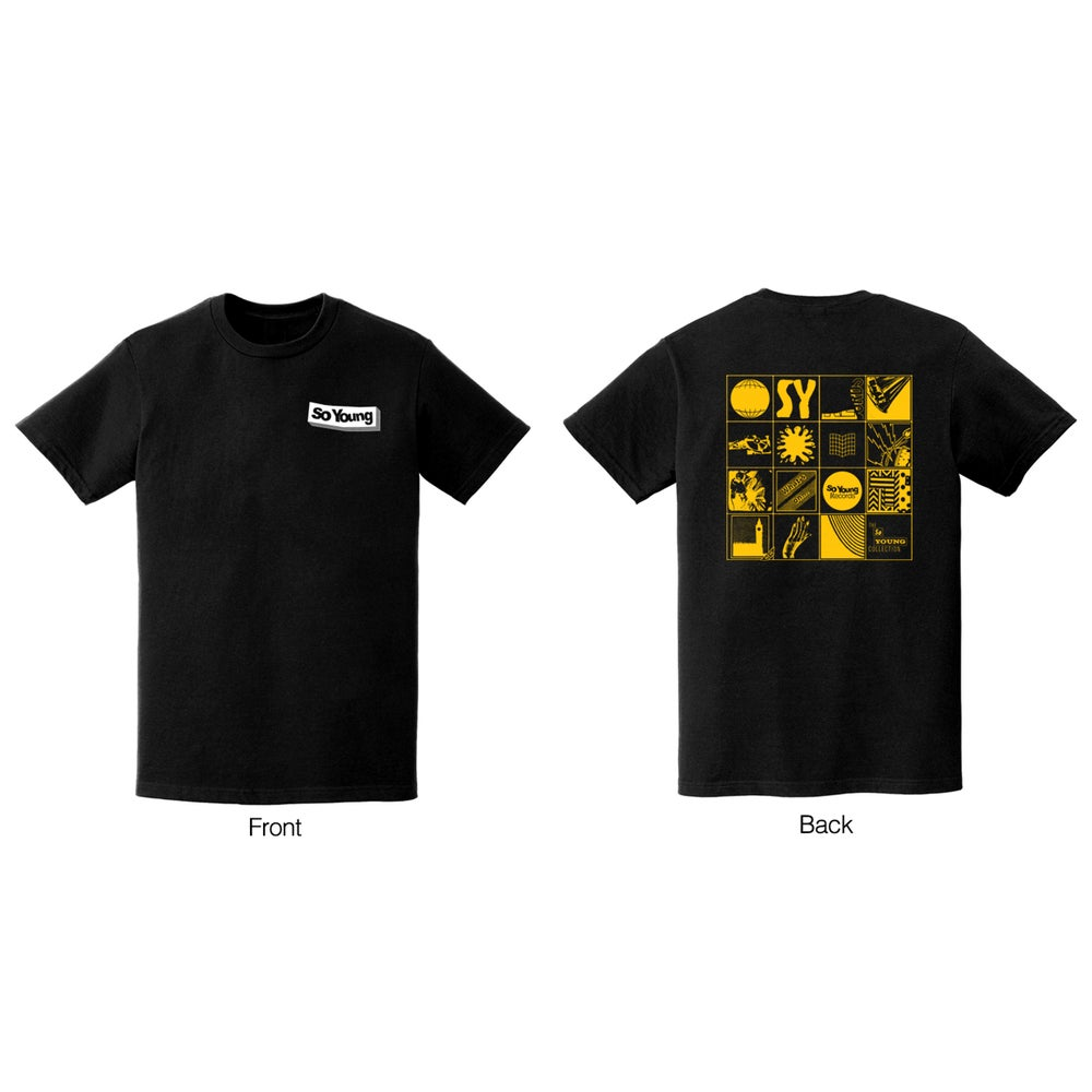 Image of So Young Black Grid Tee