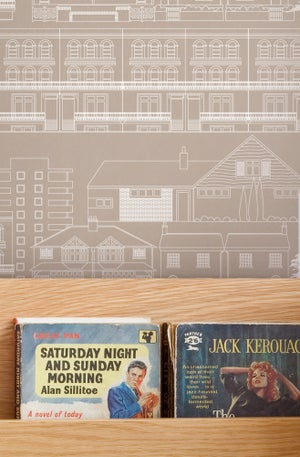 Image of Do You Live in a Town? Wallpaper - Weathered Cedar