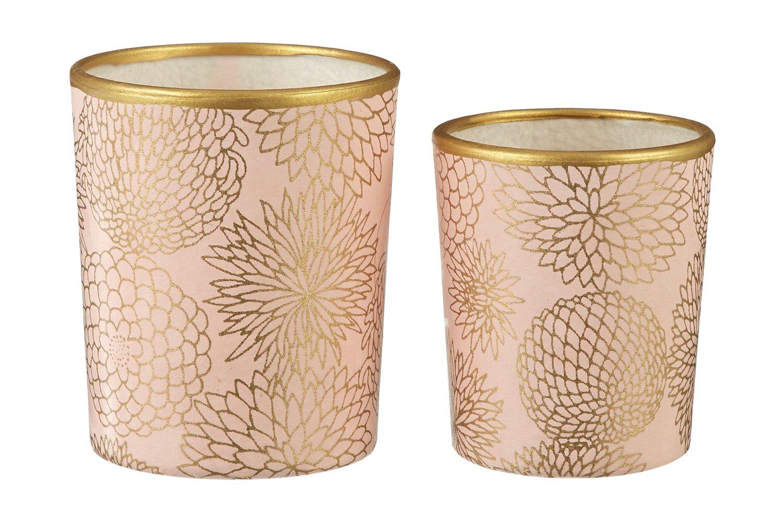 Image of Candle holders * Big chrysanthemum * Peach
