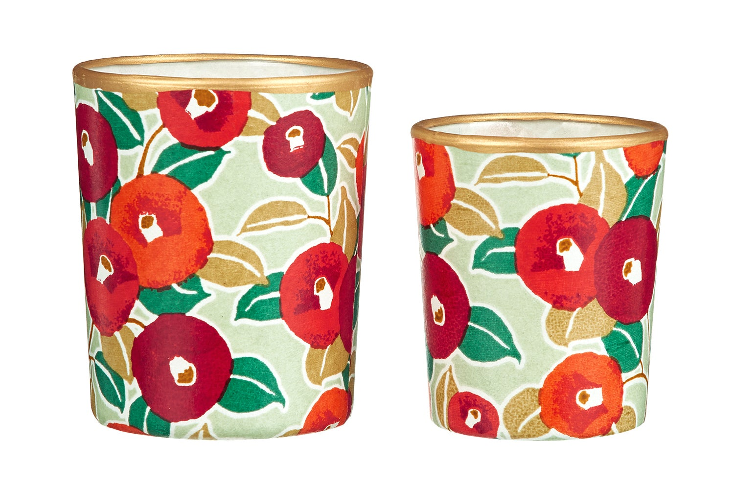 Image of Candle holders * Camelia * Green