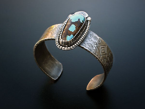 Image of Etched Turquoise Cuff