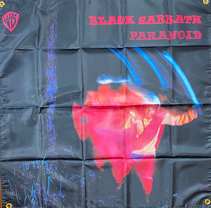 """Image of Distro item """" Paranoid """"    Banner / Tapestry / Flag  """""""