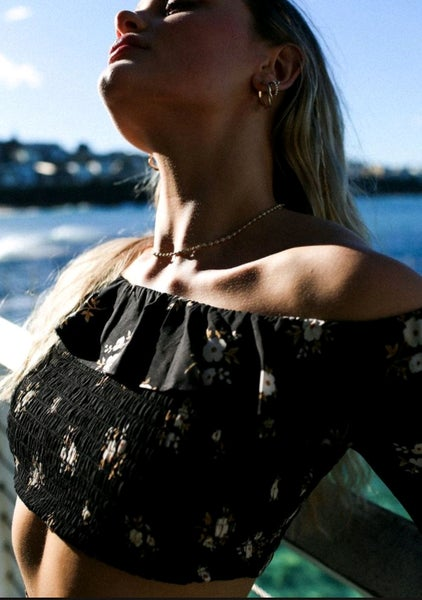 Image of ORCHID Ruffle Top. The Lost Tribe at NATASAstudio.