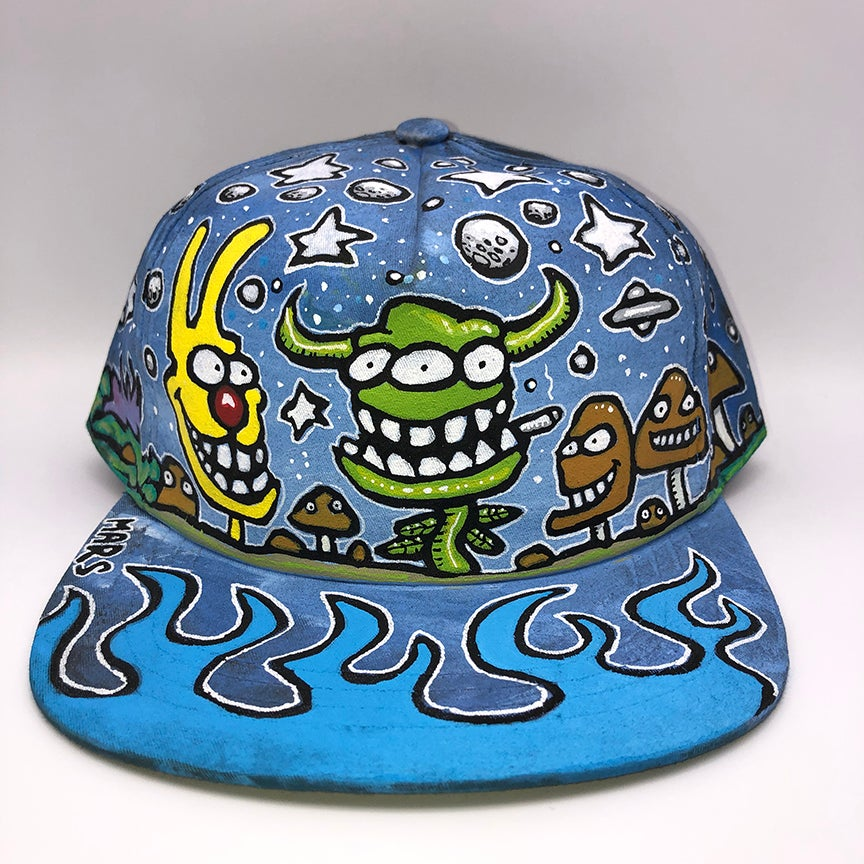 Image of Hand Painted Hat 109_21