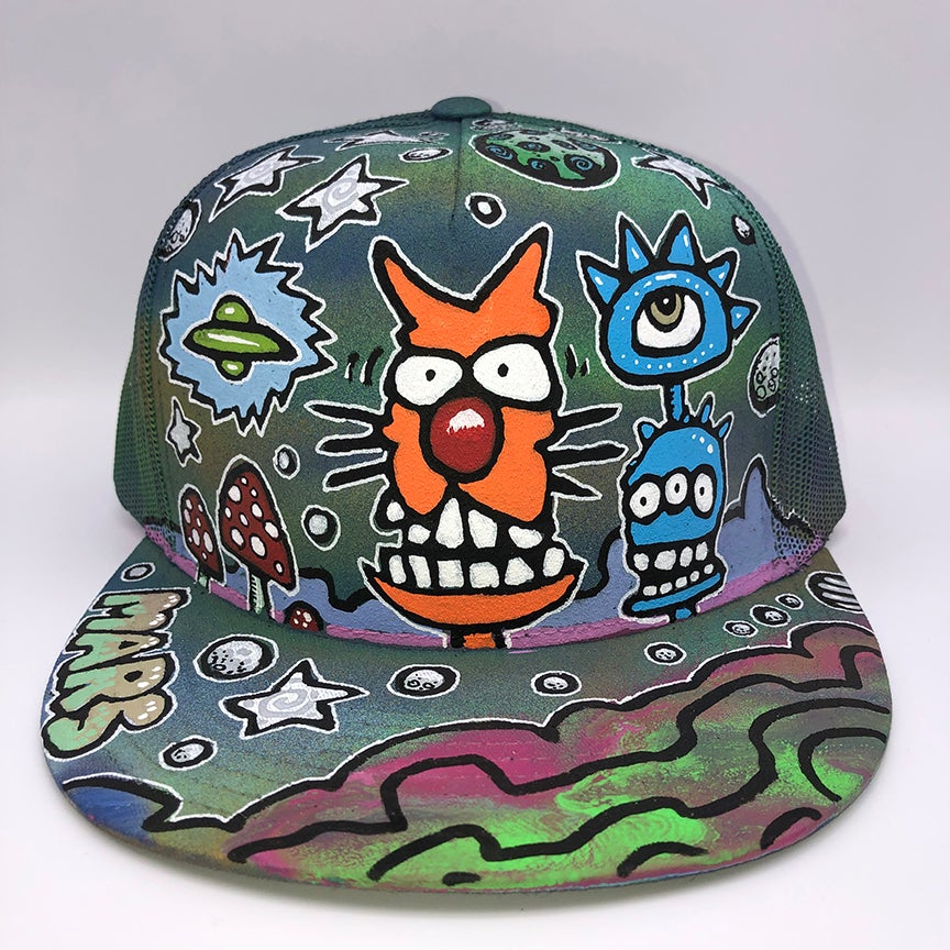 Image of Hand Painted Hat 110_21